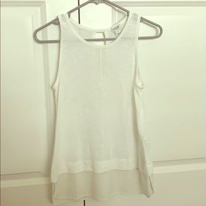 JCrew XS White Top with Layered Look